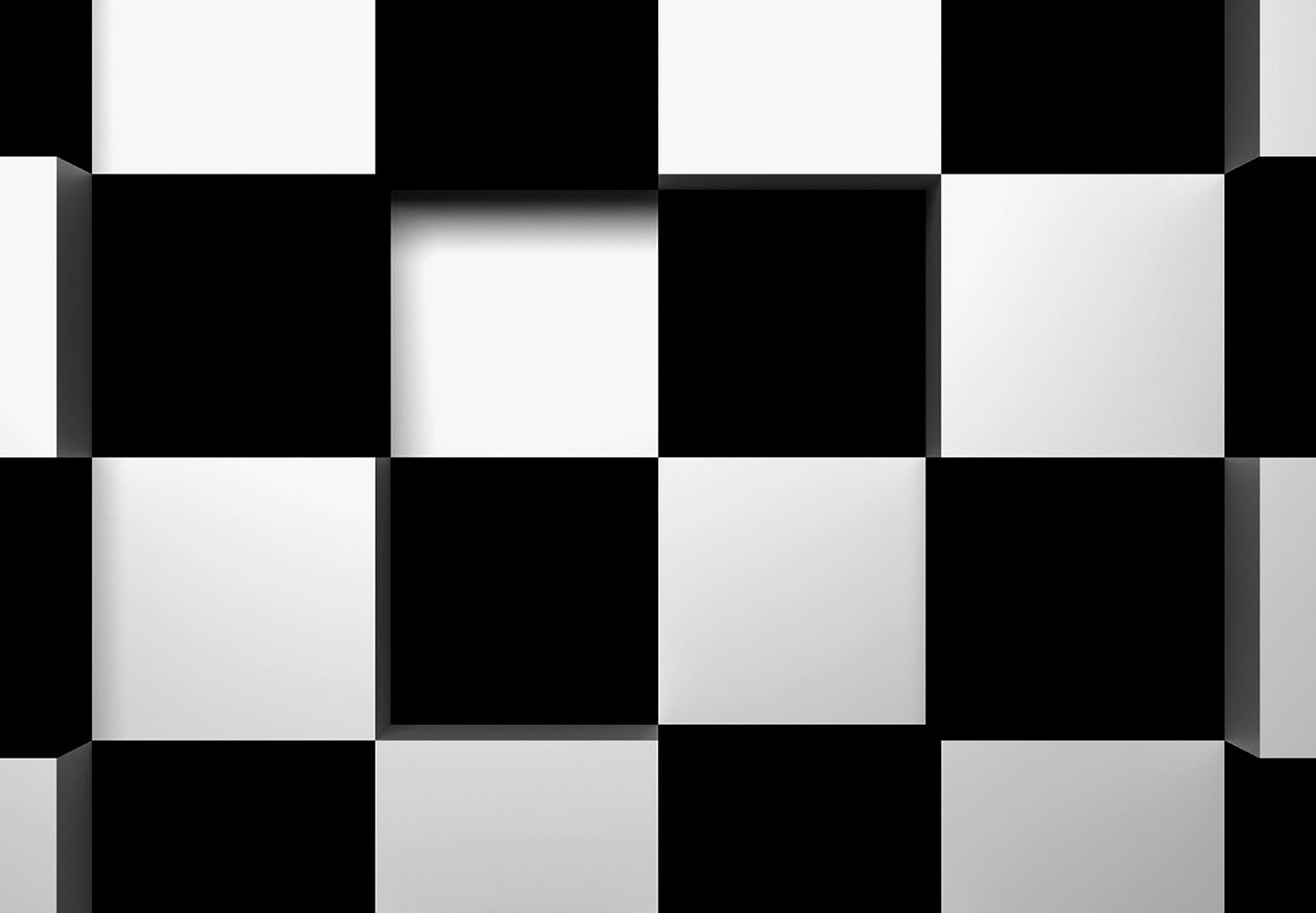 Fototapet Black + White Squares, Wizard&Genius, 8 segmente, 366 x 254cm
