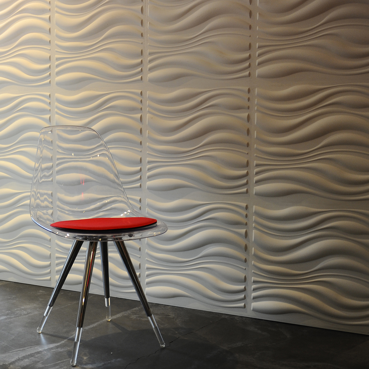 Panouri Decorative 3d Waves Wallart 12 Placi 50x50cm
