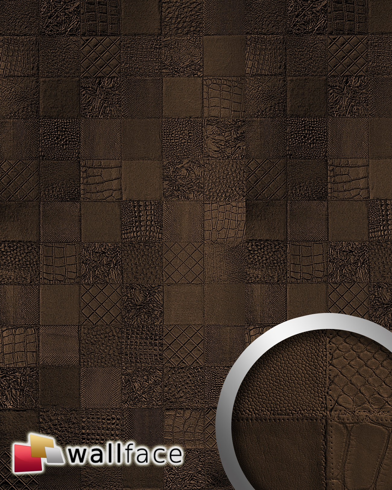 Panou Decorativ Leather 15038  Wallface  Autocolant