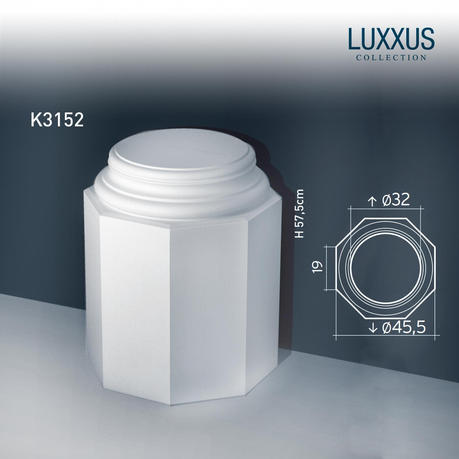 Element Decorativ Baza Coloana Luxxus K3152 Orac D
