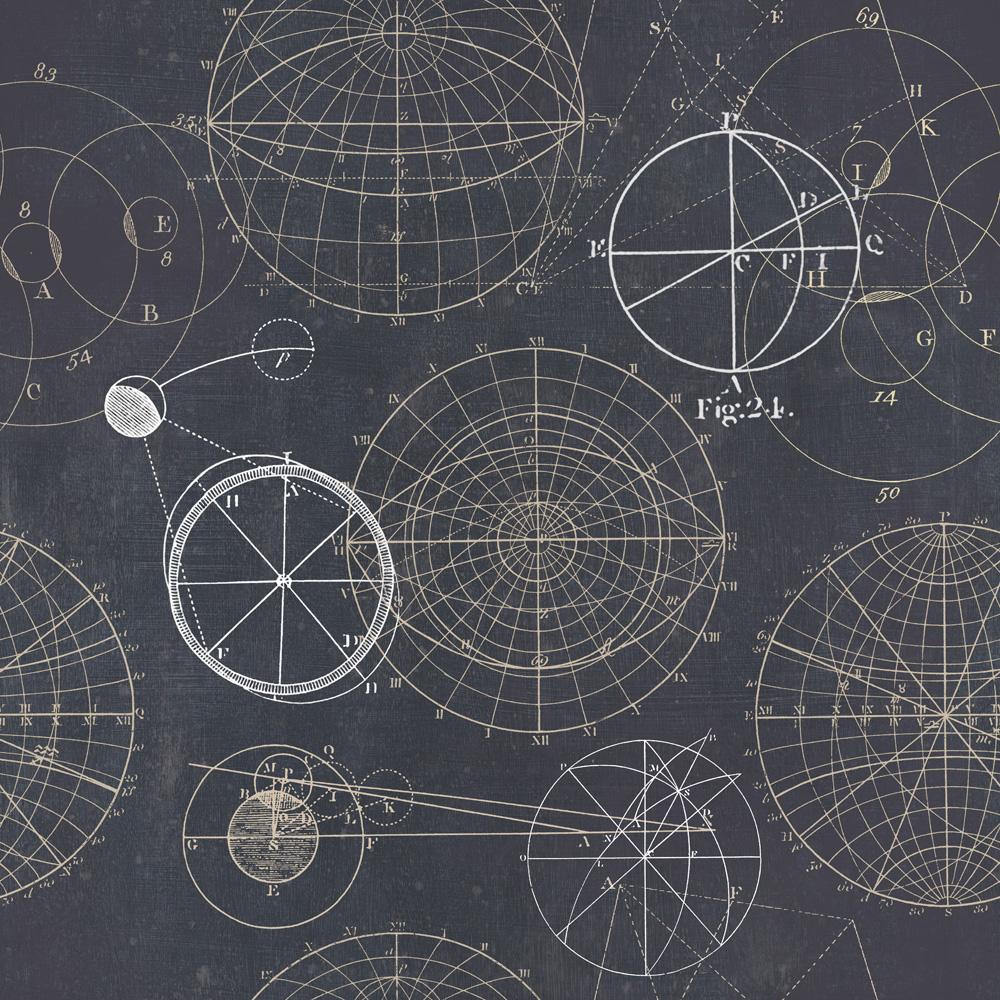 Tapet Designer Discovery Astronomy Blue Mindthegap