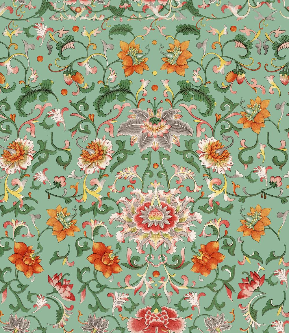 Tapet Designer World Culture Chinese Floral Mindth