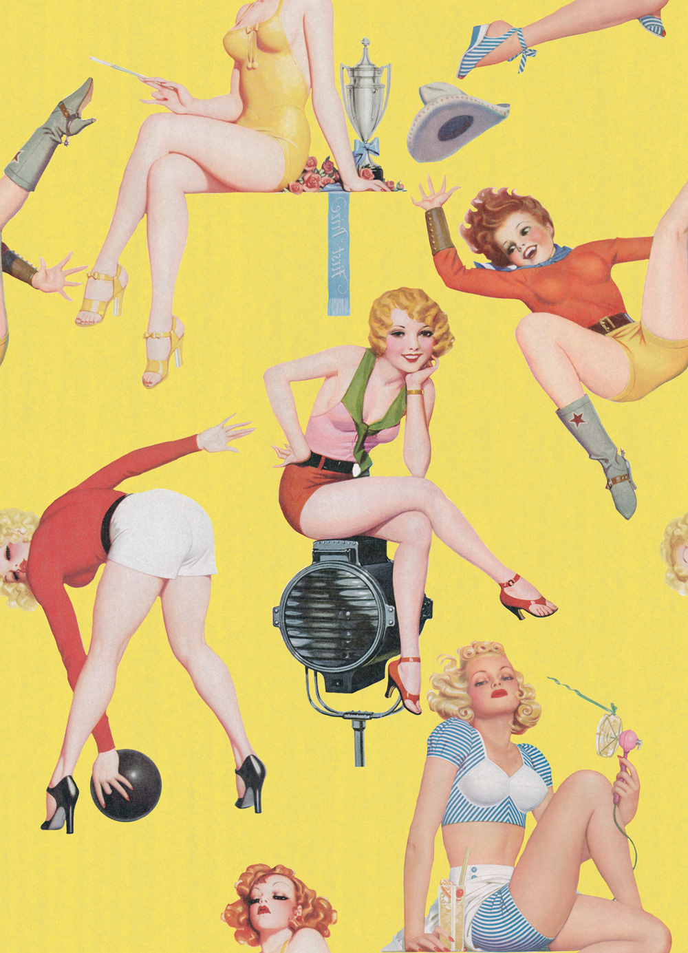 Tapet Designer Retro Metro Pin-up Girls I Mindthegap