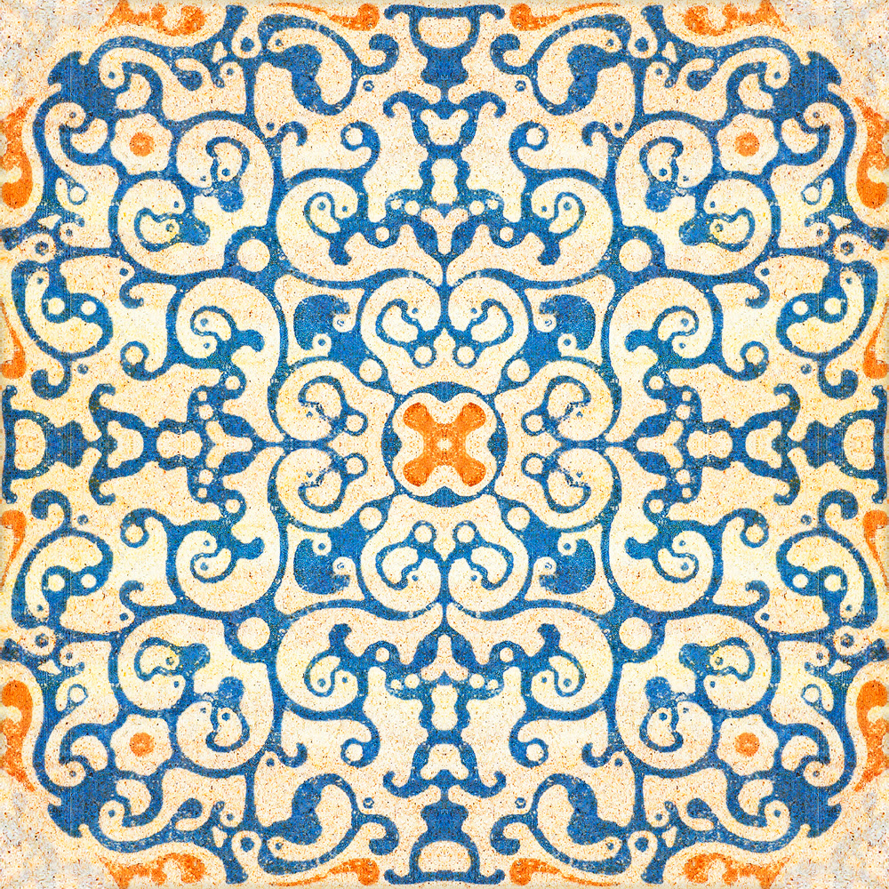 Tapet Designer World Culture Spanish Tile Mindtheg